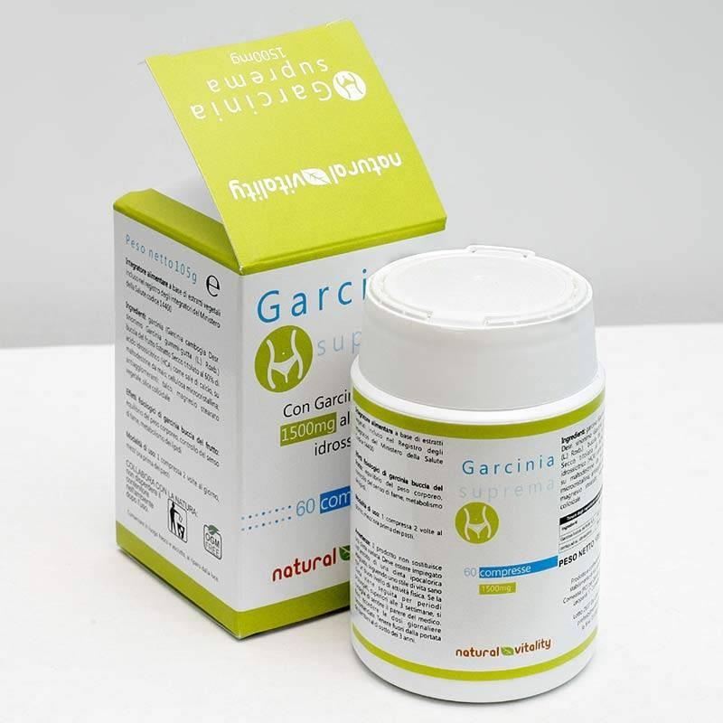 Garcinia suprema 60 compresse 1500mg | Natural vitality