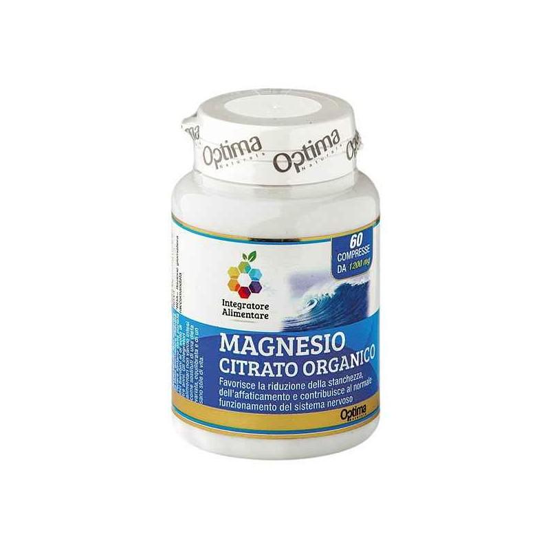 Magnesio Citrato Organico - Optima Naturals 60 cp